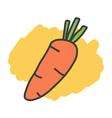 Cartoon doodle carrot vector image