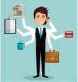 busy person design vector image