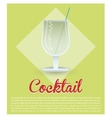 cocktail fresh drink green background vector image