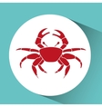 crab icon design vector image