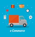 e commerce concept online shopping vector image