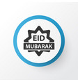eid mubarak icon symbol premium quality isolated vector image