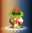 hindu worship kalash vector image