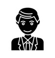 man office line businessman icon vector image