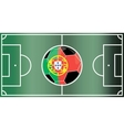 Portugal football field vector image