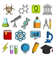 Science and education icons set vector image