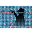 spy steals pasword vector image