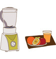 The electric blender for make fruit juice vector image