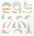 transparent rainbow set vector image