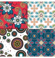 Indian colorful pattern set vector image vector image