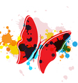 butterfly on art background vector image vector image
