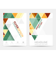 Flyer design with geometric pattern Corporate vector image