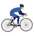 Isolated biker and bike design vector image