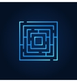 Labyrinth blue icon vector image