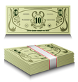 Money set vector image vector image