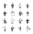 Professional character icon vector image