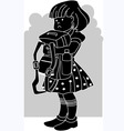 silhouettes girl vector image