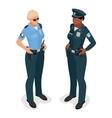 Policewoman in uniform Realistick flat 3d vector image vector image