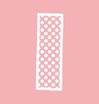 I alphabet letter with white polka dots on pink vector image
