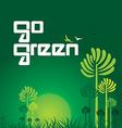 go green concept vector image