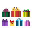 Colorful wrapped gift boxes vector image