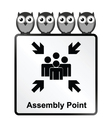 Assembly Point Sign vector image