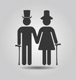 black senior male and female couple symbol icons vector image