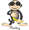 elegant monkeys vector image