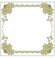 frame made of acorns and oak leaves vector image