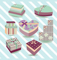 gift box collection colorful boxes - vector image