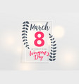 march 8 happy womens day background vector image