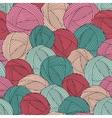Seamless yarn balls pattern vector image