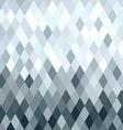 Silver metal rhombus geometry seamless pattern vector image