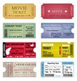 Ticket Template Designs vector image