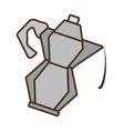 cartoon kettle coffee tea cookware vector image