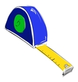 Tape measure meter icon vector image
