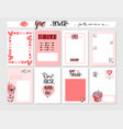 hand drawn abstract graphic valentines day vector image