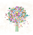 flower tree vector image