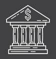 bank building line icon business and finance vector image