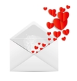 Valentines Day Card with Envelope and Heart vector image vector image