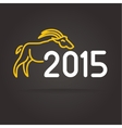 2015 goat logotype isolated on dark background vector image