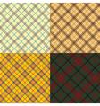 Scottish tartan set vector image