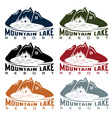 set of mountaim lake resort vector image