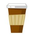 disposable coffee cup cartoon vector image