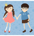 girl and boy vector image