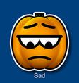 Sad vector image