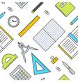 Seamless School Office Supplies Pattern 2 vector image