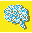 symbol of brain isolated icon design vector image