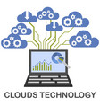 clouds technology concept vector image