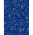 Dark blue floral pattern vector image